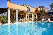 Vista casa+piscina