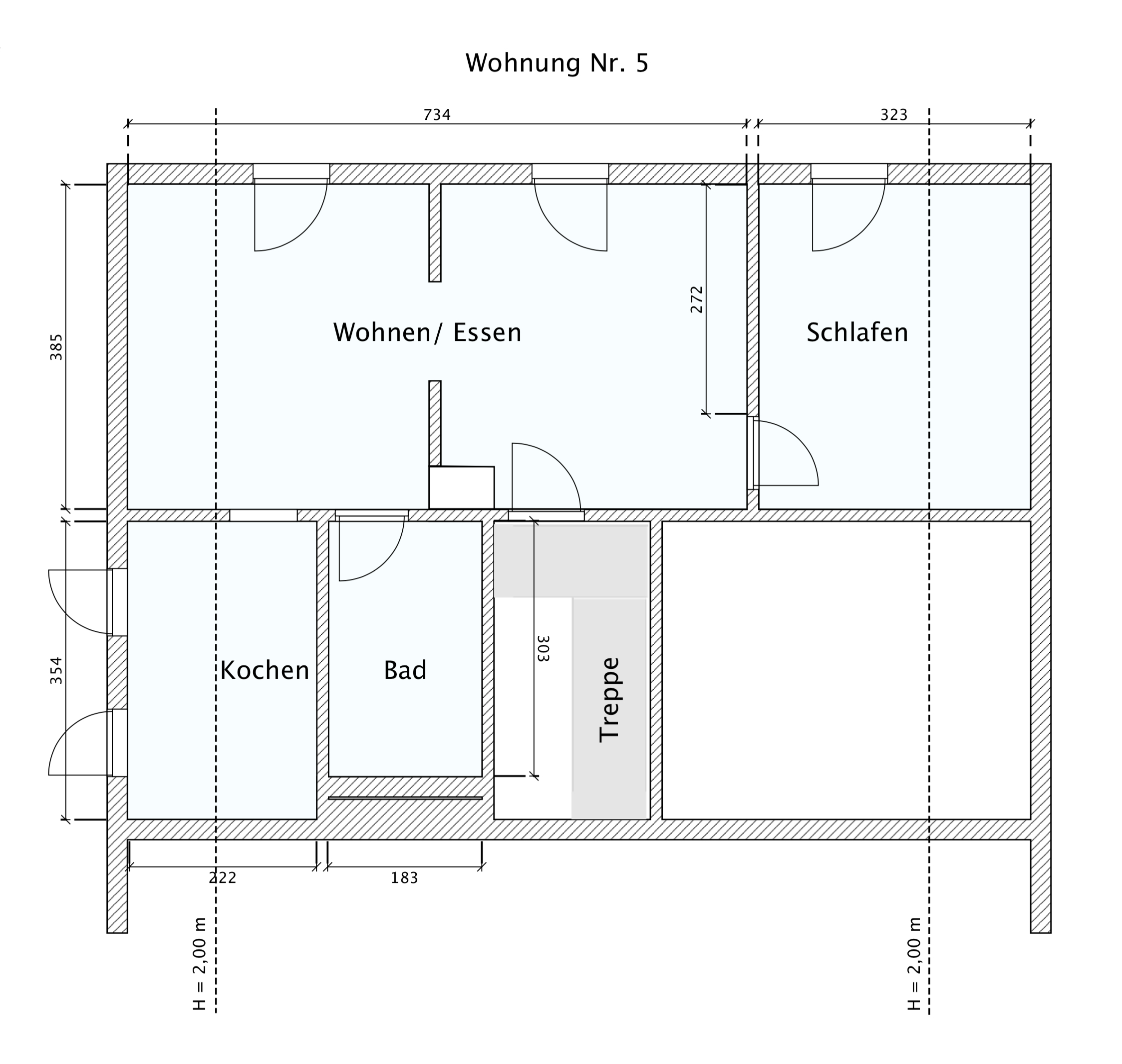 Grundriss Wohnung Nr. 5