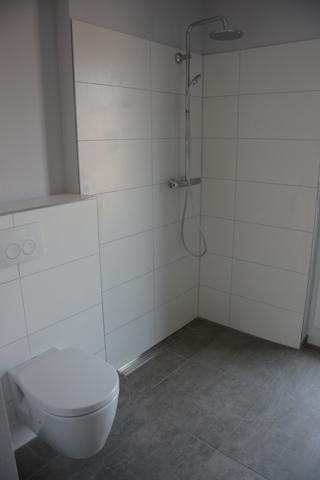 Ausschnitt Badezimmer Duschbereich