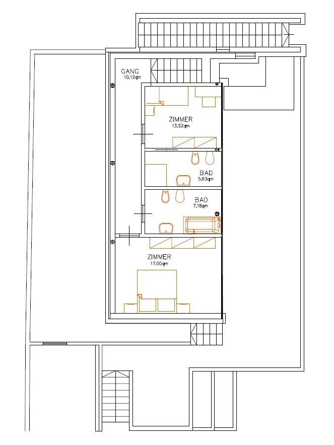 Variante - Obergeschoss - Primo piano