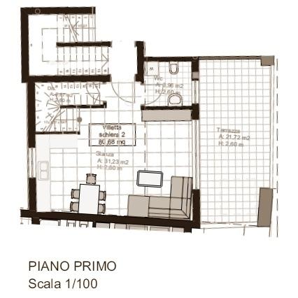 Villetta schiera n. 2 - primo piano