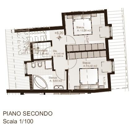 Villetta schiera n. 2 - secondo piano