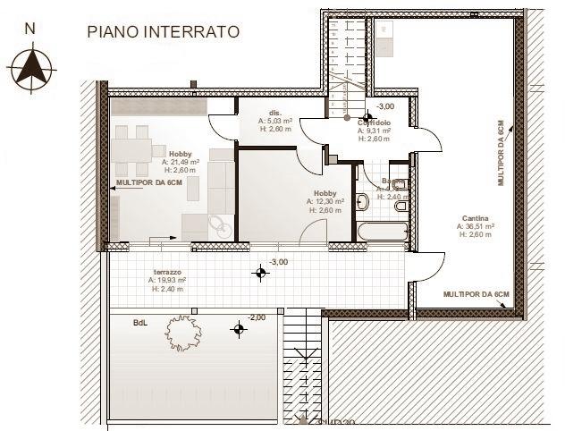 Untergeschoss - piano interrato