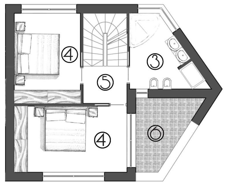 Haus B_erster Stock_primo piano