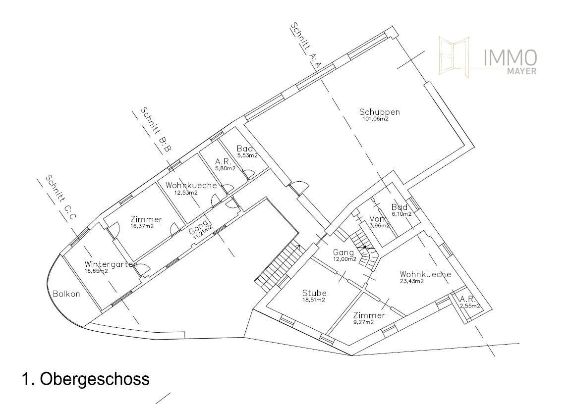1. Obergeschoss | 1. piano superiore