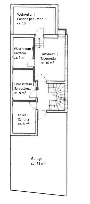 Kellergeschoss - Piano Cantina