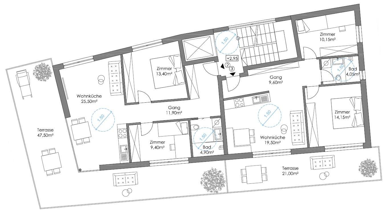 Obergeschoss | Piano superiore