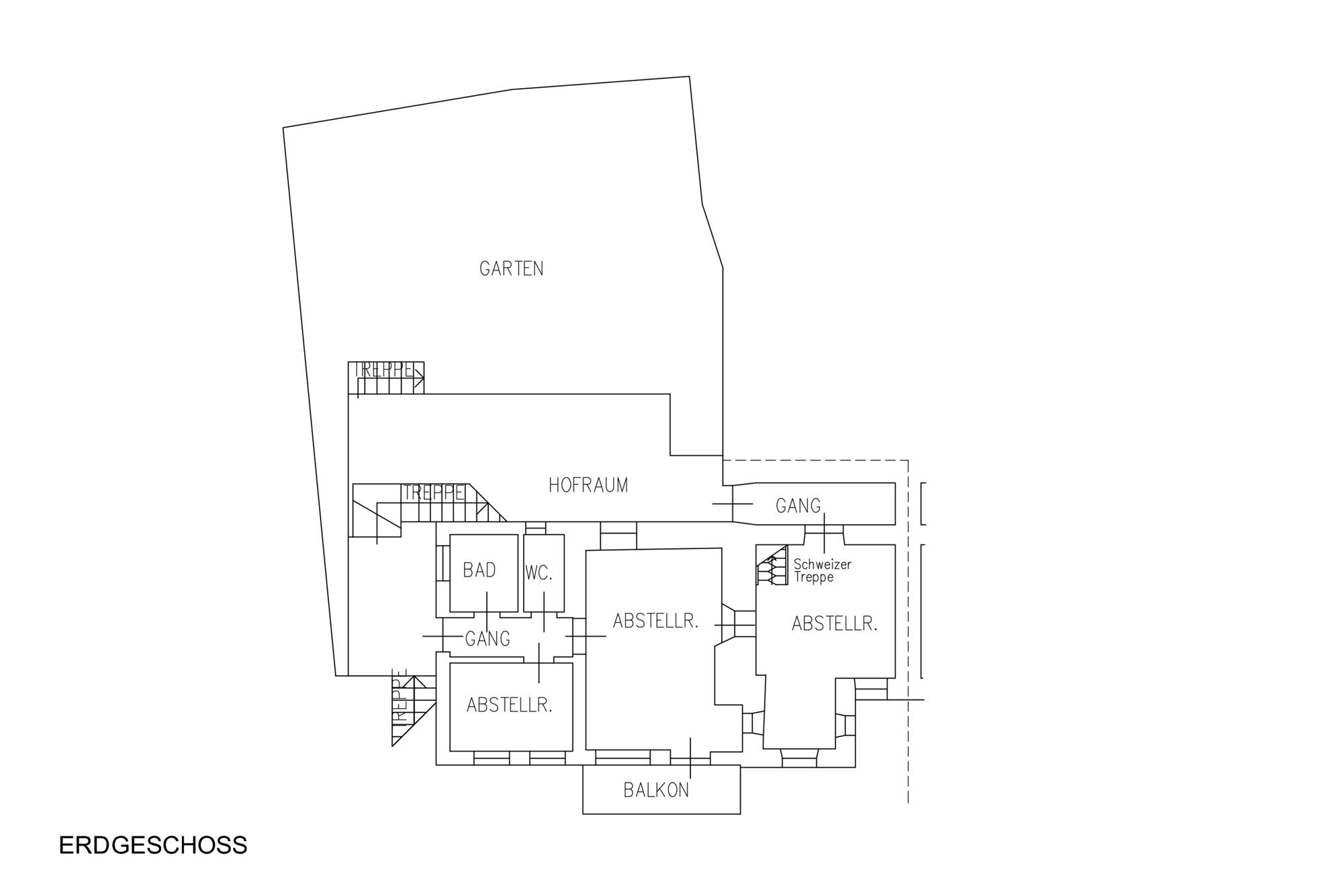 Erdgeschoss - piano terra