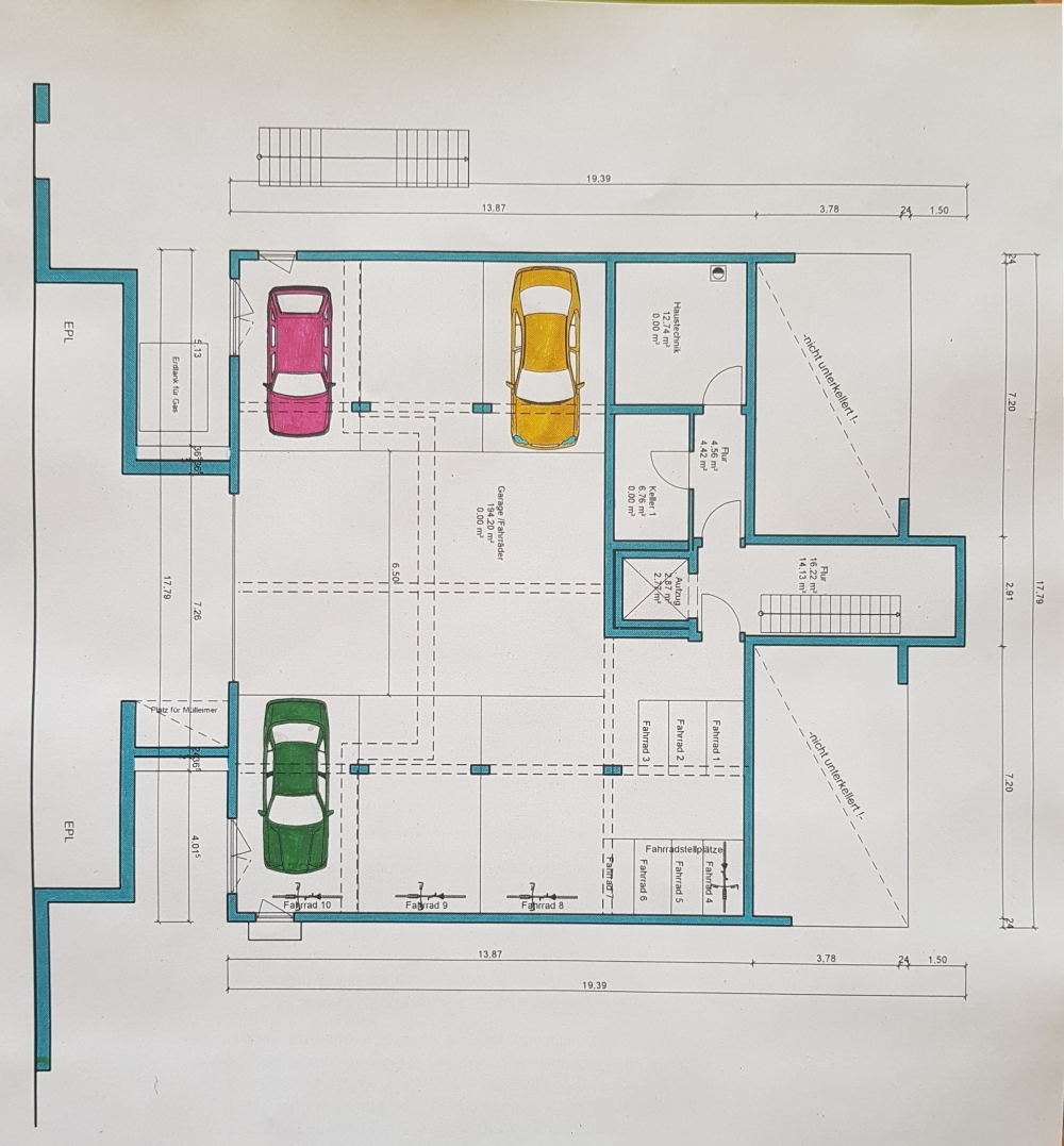 Grundriss UG-Garagen (2) von VERKAUFT | Maywand Immobilien GmbH