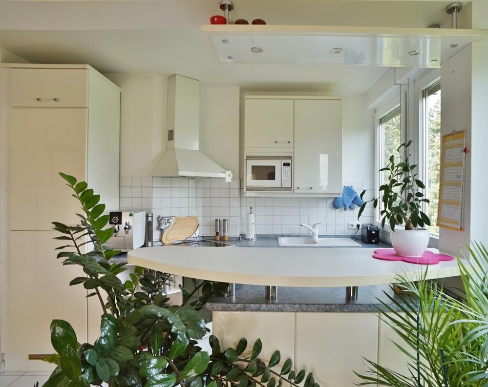 moderne, offene Einbauküche