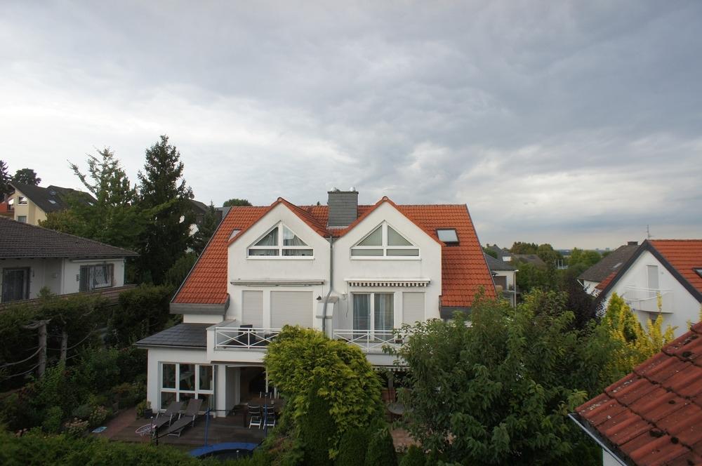 Ausblick auf die baugleichen Häuser
