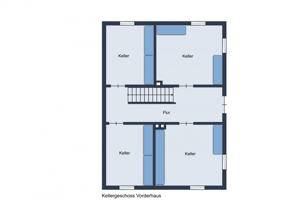 Kellergeschoss Vorderhaus