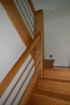 Massive Holztreppe