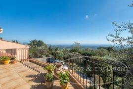 Blick von der Terrasse Villa 1