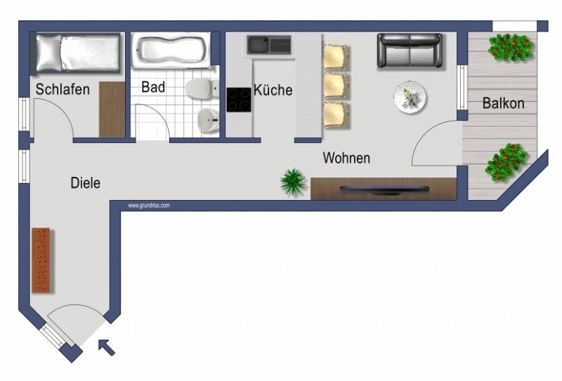 Praktische Raumaufteilung