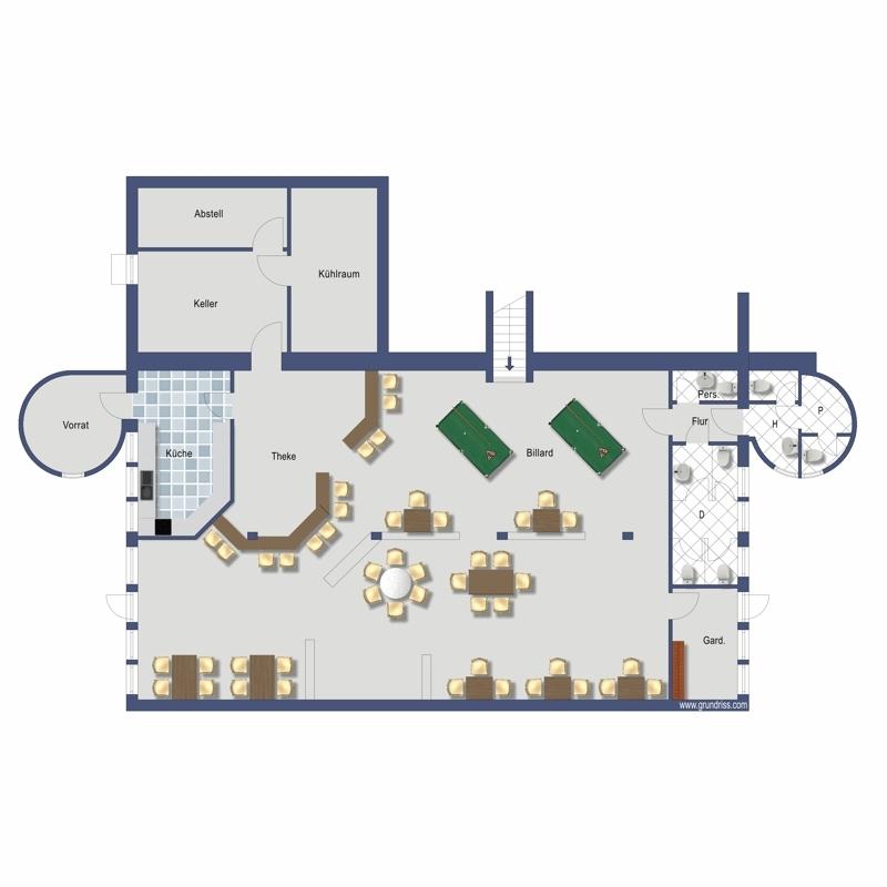 Gestaltungsvorschlag Gaststätte