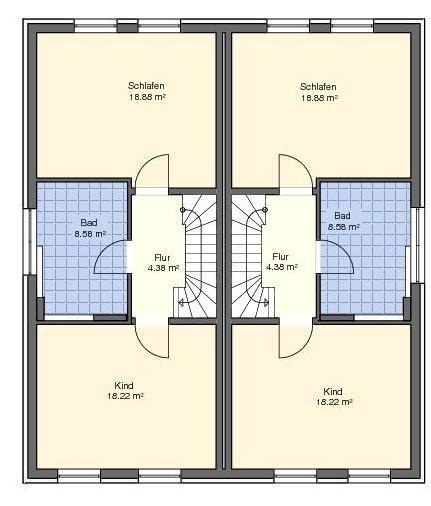 Schlafzimmer + Bad im Obergeschoss