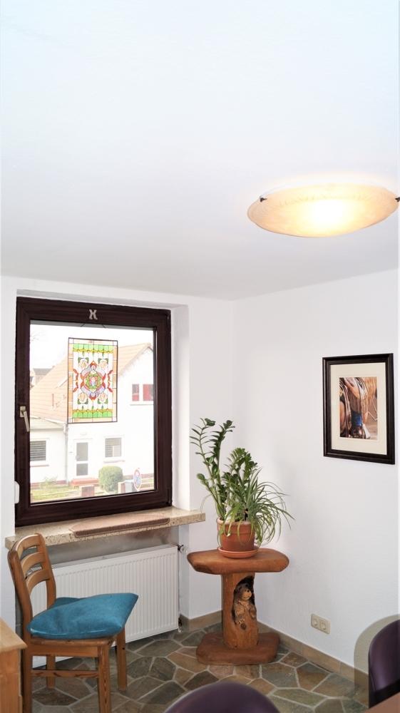 Fenster vis-á-vis vom Tresen im Wohnzimmer