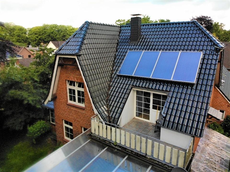 Balkon mit Solarpaneele