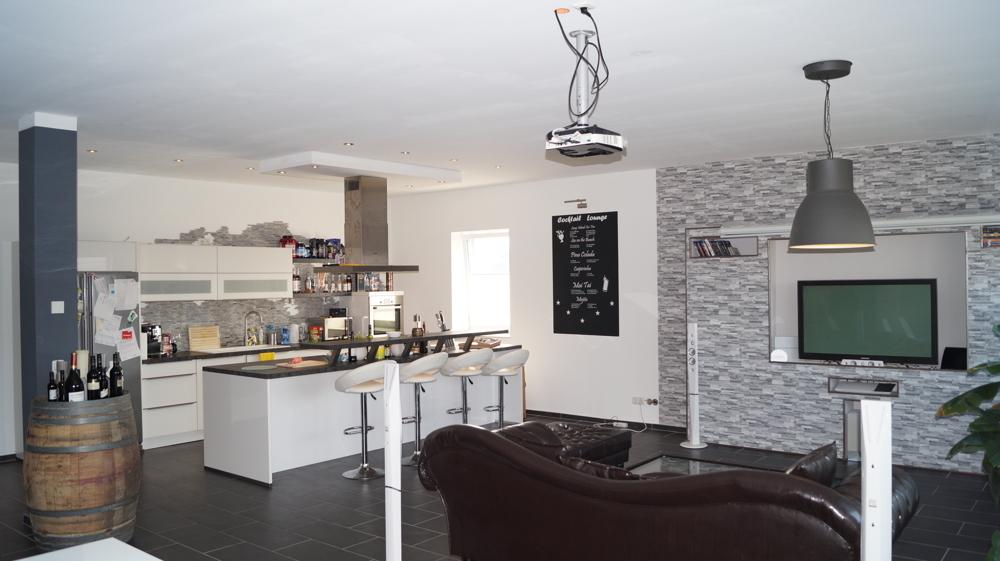 Blick zur offenen Wohnküche
