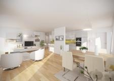Illustration Wohnküche