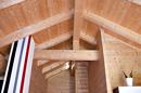 offener Dachstuhl in der OG-Wohnung