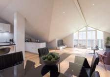 Visualisierung Dachgeschoss aus Sicht des Illustrators