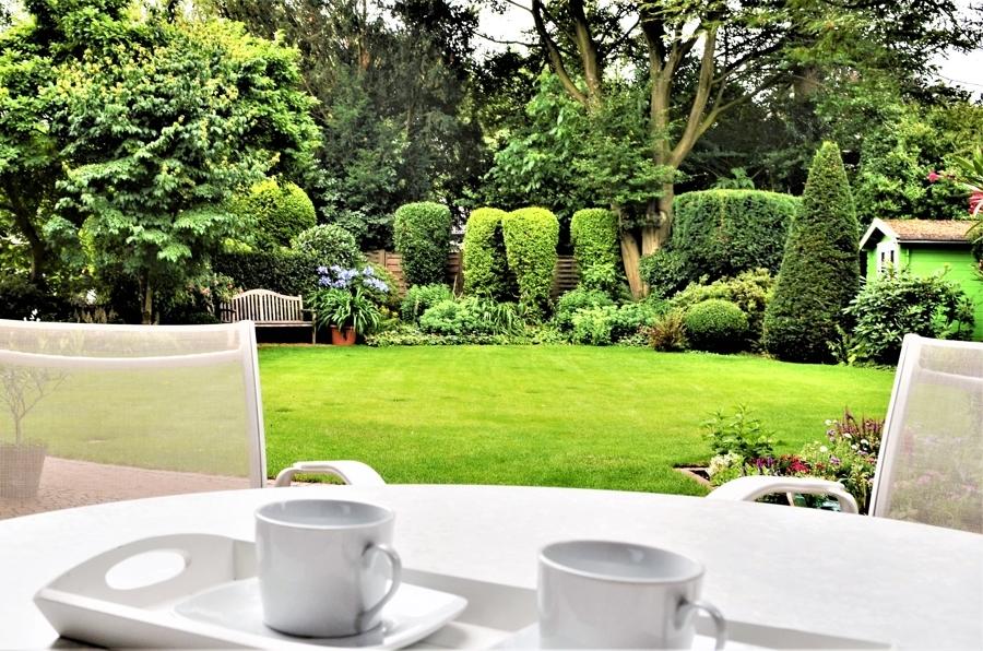 Garten aus Terrassensicht