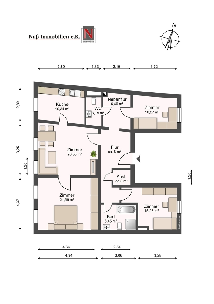 1751-Grundriss überarbeitet