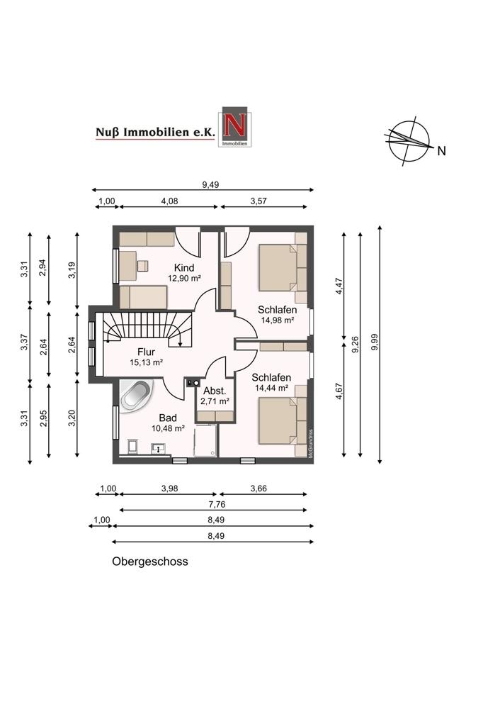 3259-Grundriss Obergeschoss