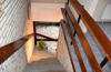 Treppe zum Dachgeschoss