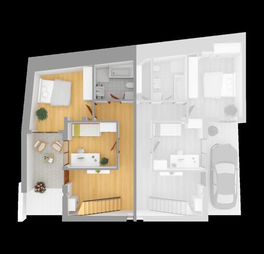 Draufsicht Wohnung 1 EG