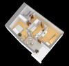 Grundriss 3D Wohnung 1 EG
