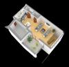 Grundriss 3D Wohnung 1 OG