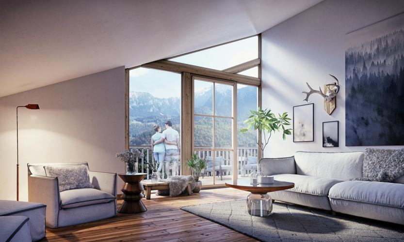 Bergblick - Wohnung Dachgeschoss