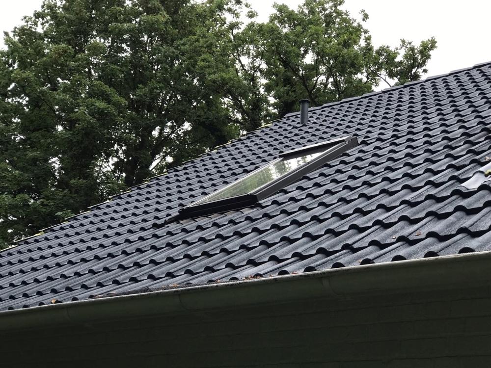 Dach ist gereinigt und versiegelt