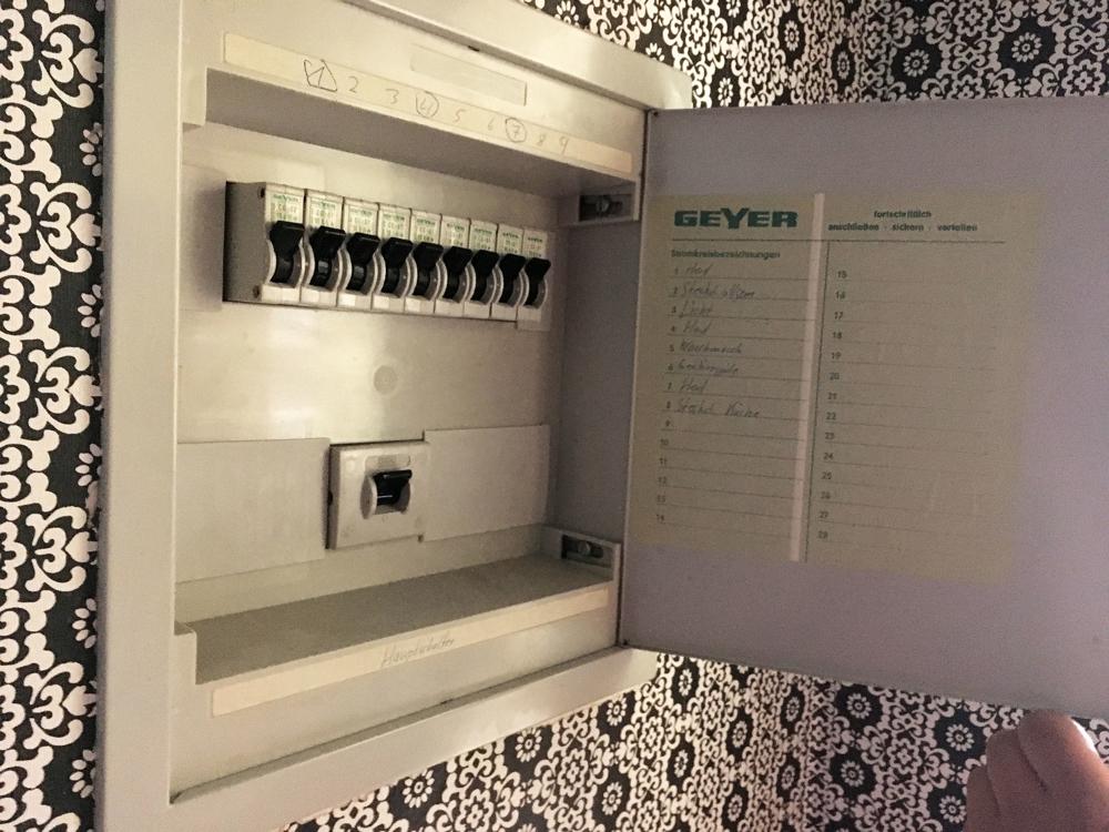 Beispiel Sicherungskasten WE 108