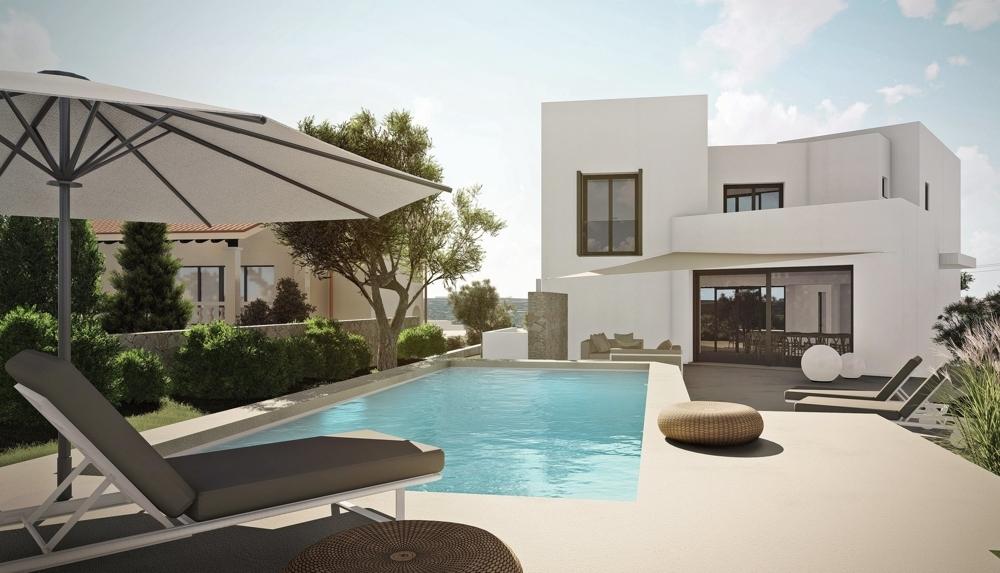 Pool mit Süd/West-Terrasse