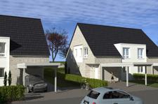 Ansicht Doppelhäuser Verblender