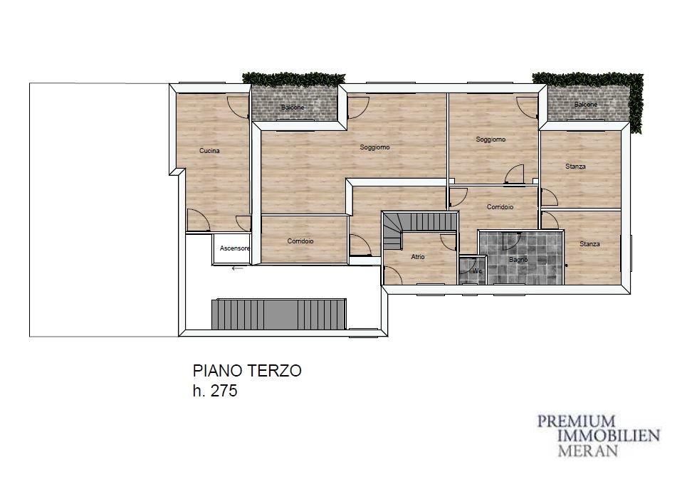 B Planimetria Piano terzo