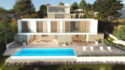 Villa mit moderner Architektur in Santa Ponsa zu verkaufen