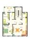Vorderhaus Variante 2 Einrichtungsvorschlag 3 Zimmer