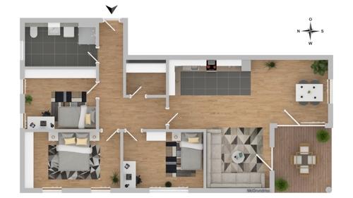 Grundriss Beispiel 4 Zimmer