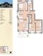 Grundriss mit Wohnflächenberechnung