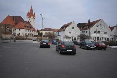 Blick auf das Rathaus von Berg