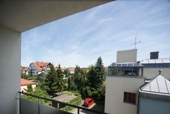 Blick von dem Balkon