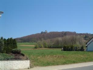 Blick von Süden mit Burgblick