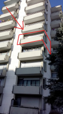 Südansicht mit Balkon