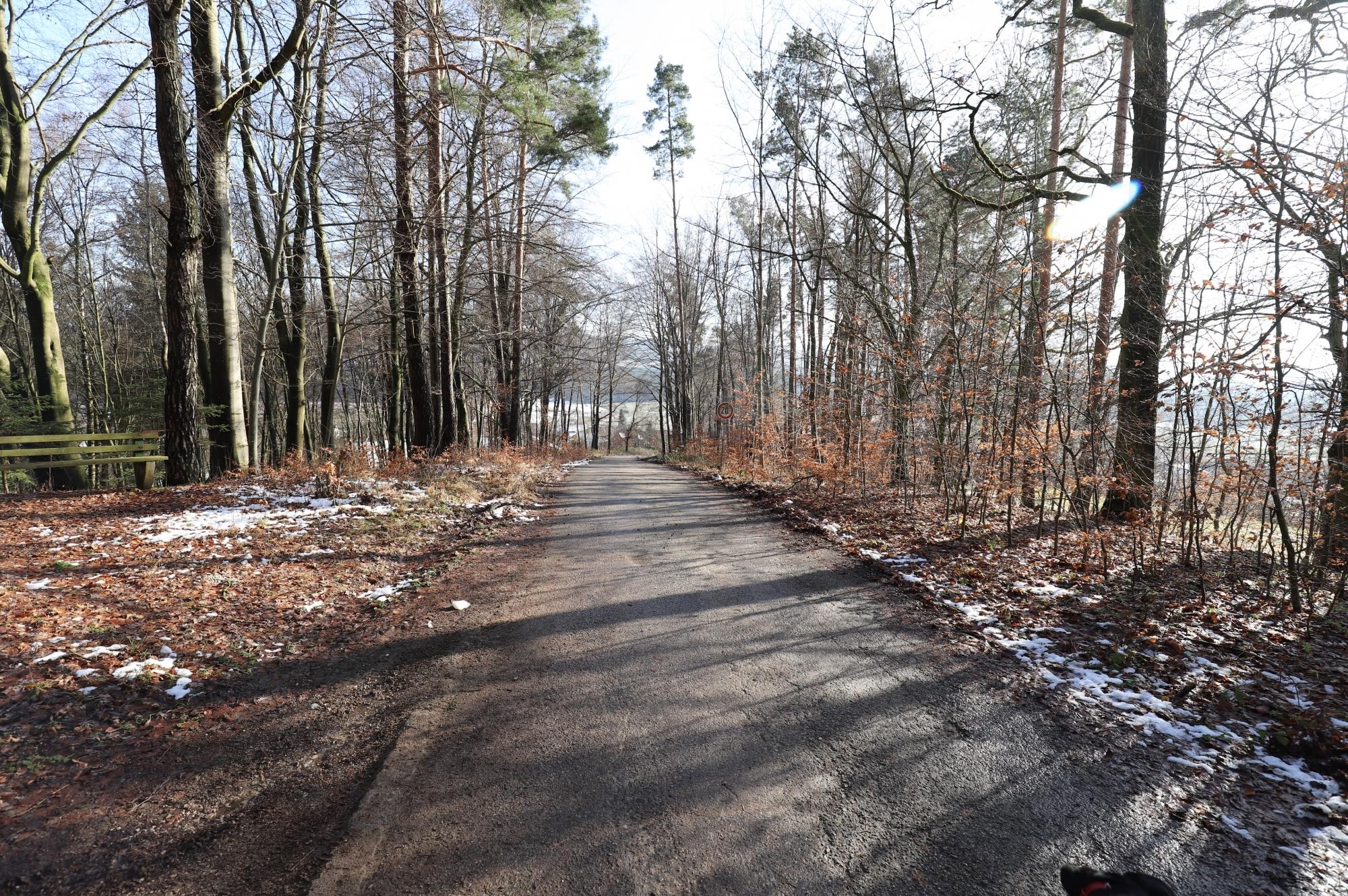 Straße nach Buchberg
