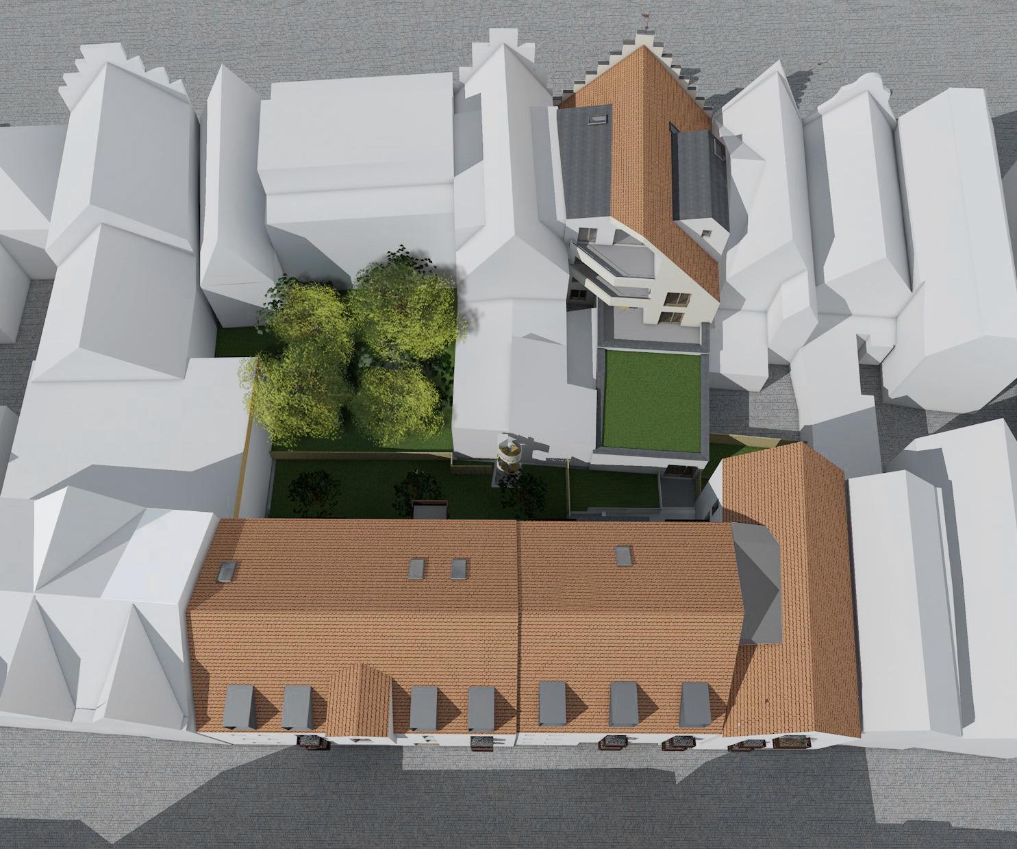 Luftbild zur Marktstraße